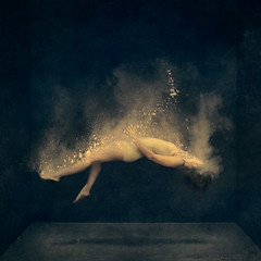 the dust (brookeshaden) Tags: fineartphotography conceptualphotography selfportraiture darkart levitation becomingdust gandhiquote surrealart