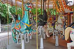 Carousel Dragon, Palm Beach Zoo (5 of 7) (gg1electrice60) Tags: palmbeachzoo carousel wildlifecarousel dreherpark 4807drehertrailn carrousel merrygoround 4807drehertrailnorth amusementpark drehertrailnorth drehertrailn florida palmbeachcounty interstate95 i95 zoo park wildlife summitboulevard summitblvd dragon horses benches lights bulbs mirrors poles