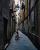 The streets of Barcelona... (Hans Kool) Tags: barcelona spain spanje street straat lopen girl woman shopping meisje vrouw walking straatje steeg