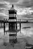 ZF2016_17954 (aa_zf717) Tags: lignano sabbiadoro nuvole riflesso reflection alba sunrise faro rosso lighthouse black white bw pontile lee filters friuliveneziagiulia paesaggio landscape leefilters seascape canonef163528lii