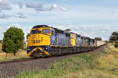 2017-01-08 SSR C504-C505-C509-C507 Maryvale 1877 (deanoj305) Tags: geurie newsouthwales australia au c504 c505 c509 c507 1877 fletchers additional container train main western line nsw southern shorthaul railroad ssr