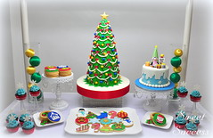 Christmas Dessert Table (sweetsuccess888) Tags: sweetsuccess desserttable dessertbar dessertbuffet christmas cake christmastreecake sugarcookies christmassugarcookies cupcakes philippines
