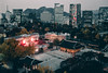 Seoul City Fire (Javin Lau) Tags: yellow seoul city south korea asia travel icn sony a7sii 35mm zeiss pavillion palace cityscape night urban history modern dusk light led mountain ngc