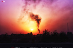 Outskirt Sunset (AQAS) Tags: sunset sunlight colors dusk motorway pakistan lahore islamabad outskirts