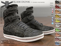 Slam Dunk :: Unisex :: 10 Colors ({kokoia}) Tags: unisex kokoia sneakers man woman belleza maitreya tmp themeshproject flat bare basquetball
