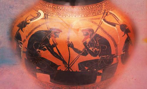 "Petteia - Ludus Latrunculorum  / Iconografía de las civilizaciones helenolatinas • <a style=""font-size:0.8em;"" href=""http://www.flickr.com/photos/30735181@N00/31678491424/"" target=""_blank"">View on Flickr</a>"