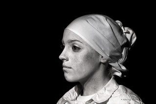 mijn Vermeer in black and white/my picture Vermeer alike