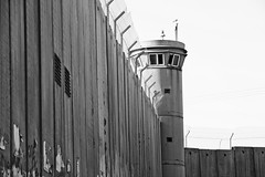 barrier (eb78) Tags: palestine westbank middleeast bw monochrome blackandwhite greyscale grayscale bethlehem wall border tower israel separation