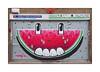 Street Art (HNRX), East London, England. (Joseph O'Malley64) Tags: hnrx streetart urbanart graffiti eastlondon eastend london england uk britain british greatbritain art artist artistry artwork mural muralist shutter rollershutter shop shopfront sign signage awningframe burglaralarm brickwork bricksmortar blockpaving pointing detritus urban urbanlandscape aerosol cans spray paint melon accuracyprecision