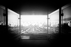 surreal city IV (ChrisRSouthland (away for a month)) Tags: city cityview athens greece surreal bw monochrome blackandwhite nn leicammonochrom elmarit28mmf28 niarchoscentre
