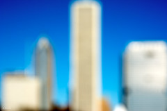 Chicago Defocused (Andy Marfia) Tags: chicago loop skyline grantpark aoncenter prudentialbuilding buildings architecture blue sky defocused outoffocus d7100 1685mm 1640sec f8 iso100