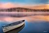 "A Misty Morning in Autum 2 (Celia W Zhen) Tags: sunrise mistymorning sky cloud fog lake landscapes ontario canada celiawzhen nikond800e arrowhead provincial park"" canoe serene"
