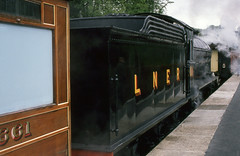 LNER Class Q7 No.901 (SteveInLeighton's Photos) Tags: england locomotive may railroad railway steam transparency yorkshire train fujichrome 1991 lner northyorkmoors grosmont