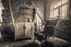 Tea time! (marco18678) Tags: pixanpictures nikon d750 tamron 1530 lost abandoned decay decayed photography urbex urban exploring beautiful monochrome tea time chair natural light ue europe world naturallight belgium mysterious window eu emotion house maison lonely hidden forgotten