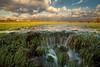 Flooded meadows at River Elbe, Germany (PhotoChampions) Tags: flood überflutung elbe water wasser wiese meadow wasserfall waterfall cascade himmel licht winter flut