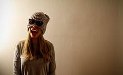 See Through (CoolMcFlash) Tags: person portrait sunglass funny face woman flickrfriday seethrough canon eos 60d tamron a007 2470 sonnenbrille lustig gesicht haube hood fotografie photography frau