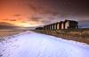 Blizzard Beach (Stu Patterson) Tags: stu patterson sunrise blyth beach huts snow winter northumberland