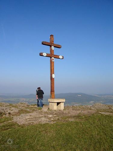 Gipfelkreuz auf dem Staffelberg - Ausblick ins Maintal