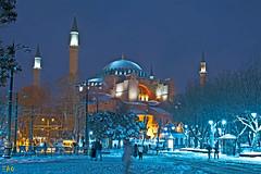 Snow Series III (EAO72) Tags: winter snow hagiasofia ayasofya night lights streetphotogrphy kar kış istanbul turkey türkiye