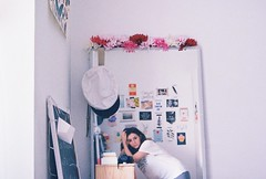These days by Nico on repeat (ACID FOOL) Tags: girl room bedroom natural light mirror reflection minolta 35mm film analog analogue flower face self portrait lomo vintage white