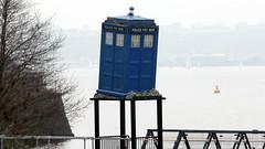 Delapidated TARDIS (Time Grabber) Tags: timegrabber cardiffbay southwales freshwaterbay thetardis drwho timeandrelativedimensioninspace