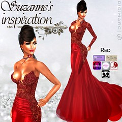 SUZANNE'S-INSPIRATION (Wild Orchid Haute Couture) Tags: ladies women fashion bridesmaid people trending style designer formal ballroom gowns dresses lingerie shoes hair maitreya slink hourglass tmp belleza jazzstyle jazz