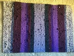 purple blues rag rug (dmatp) Tags: ragrug purple blue recycle reuse repurpose twined ragrugs
