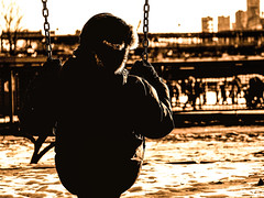 sport d'hiver (photosgabrielle) Tags: photosgabrielle people winter hiver oldmontreal vieuxmontréal urban urbain swing balançoire