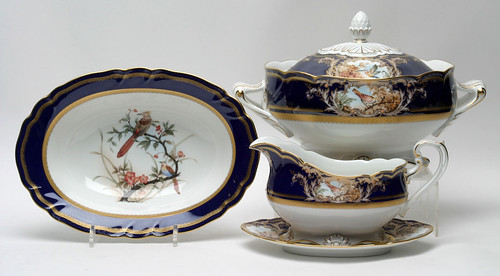 Noritake Foxboro Covered Tureen ($467.50), Gravy Boat w/ Under Plate ($110.00) & Oval Platter ($121.00)
