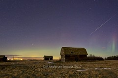 Keoma Barn Meteor (John Andersen (JPAndersen images)) Tags: alberta barn borderfx clouds farm jpandersenimages keoma meteor night sky