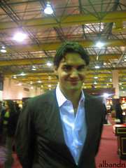 Finally i saw him  =D ([  //  QTR) Tags: exhibition jewellery roger federer doha albandri