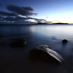 appletree bay (Adam Clutterbuck) Tags: ocean uk longexposure greatbritain sea seascape 20d water landscape coast twilight cornwall seascapes dusk canoneos20d coastal shore slowshutter gb samson oe scilly tresco slowshutterspeed islesofscilly scillies shorescape greengage shorescapes adamclutterbuck cornishcoast showinrecentset openedition