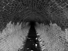 Looking in (autowitch) Tags: blackandwhite bricks pipe tunnel drain sewer lookingin