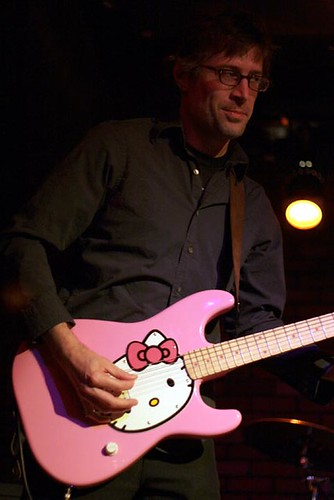 Hello Kitty Guitar. Hello Kitty guitar. The Bellyachers at Girls Rock! fest.