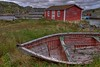 Bygone Days (iJohn) Tags: red canada water tag3 taggedout newfoundland bay boat tag2 tag1 shed rugged kiss2 brigus kiss3 kiss1 kiss4 kiss5 abigfave