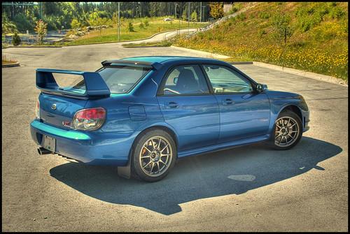 Subaru STI in HDR