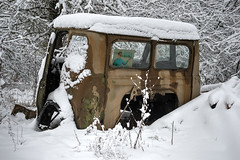Vehicles of Chernobyl (tom.frohnhofer) Tags: chernobyl ukraine ukrainechernobyl oldtown abandoned tank snow winter nuclear atmosphere radiation accident