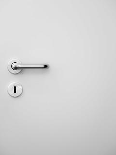 Türdrücker + Schlüsselloch
