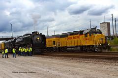 UP #844 - St. Louis (tim_1522) Tags: railroad railfanning rail missouri mo unionpacific up sub subdivision 484 844 steam locomotive jeffersoncity localfreight gp402 gp151 emd