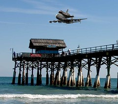 Shuttle Returns Home (hodad66) Tags: photoshop wow bravo florida nasa shuttle topf200 cocoabeachpier phenominalphoto