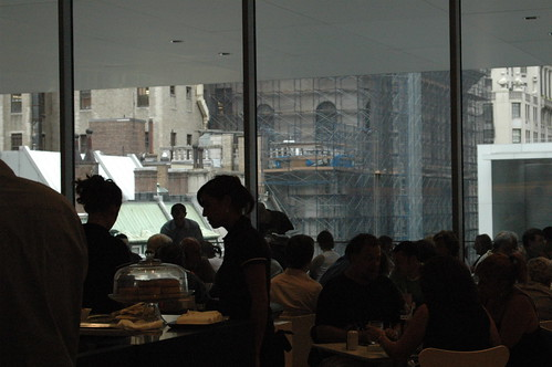 People eating at MoMA