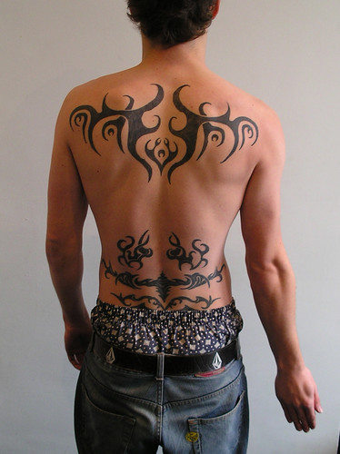 Tribal Cross Tattoos On Back