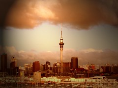 Auckland Sky Tower (EssjayNZ) Tags: 2005 newzealand sky tag3 taggedout clouds 510fav golden tag2 tag1 auckland nz skytower drama essjaynz mc04 mc04submission01epicsky mc04theme manilpulated taken2005 interestingness102 i500 sarahmacmillan