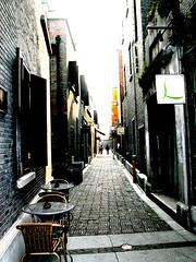 Xintiandi Alley, #3 (bloompy) Tags: china travel alley nikon coolpix5700 asia cityscape shanghai backstreet prc rmk nikondigital xi