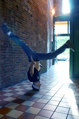 Head Spin (lazebeamz) Tags: bboy breakdancer breakdance headspin head stand spin acrobat acrobatic dancer dance