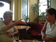 Two women chatting in a coffee shop (Snazzo) Tags: 2005 sea holidays mare mamma angela adriatico fano snazzo