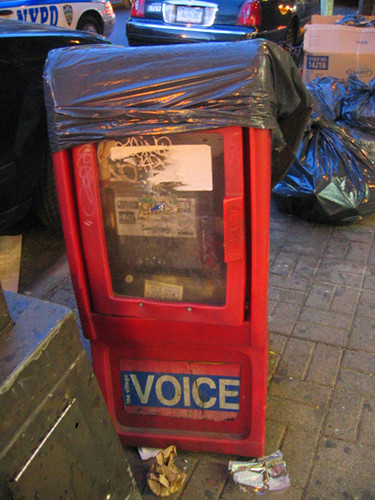 Down and Out Village Voice Kiosk