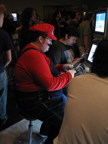 Mario playing DS