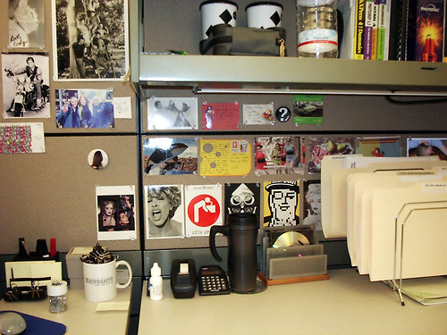 cubicle office postcards cody brady bunch erik estrada ponch chips wheres nora tiffany whatever happened baby jane tina turner dolph loves whales sick sunglesses mrpeanut madonna starbucks mug powerpuff girls pears pink panties moose hair pokey blotto modo photodisc quark dreamweaver photoshop cd water mousepad