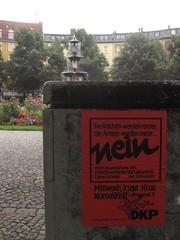 NEIN - DKP (raumoberbayern) Tags: munich red blue dirt art kunst urbanfragments election wahl 2005 germany communist party boykott haidhausen mnchen robbbilder findleastinteresting muenchen